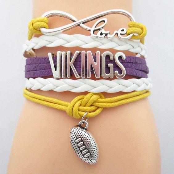 Infinity Love MINNESOTA VIKINGS Football Bracelet BOGO
