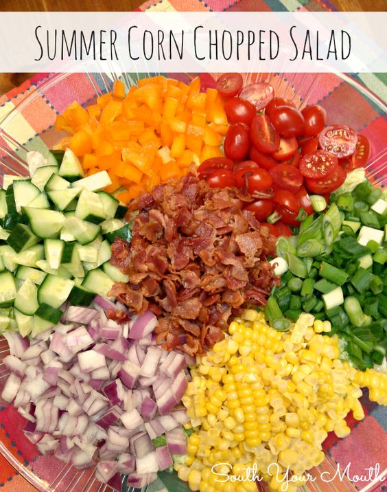 Bacon Candy Crumbled Into A Crisp Fresh Corn Salad Recipe — Dishmaps
