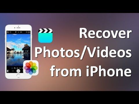This Video Introduces Two Easy Ways To Recover Deleted Photos And