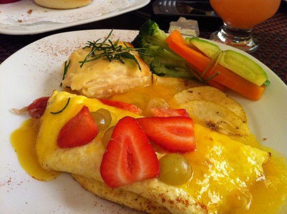 Un omelette de salmon