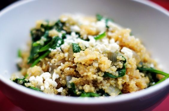 Quinoa with Spinach and Feta
