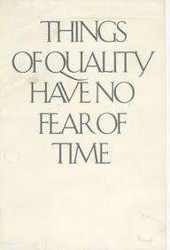 Quality has no time - via ZsaZsa Bellagio: Up Close Couture