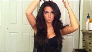 Big Voluminous Hair Tutorial by Carli Bybel, via YouTube.