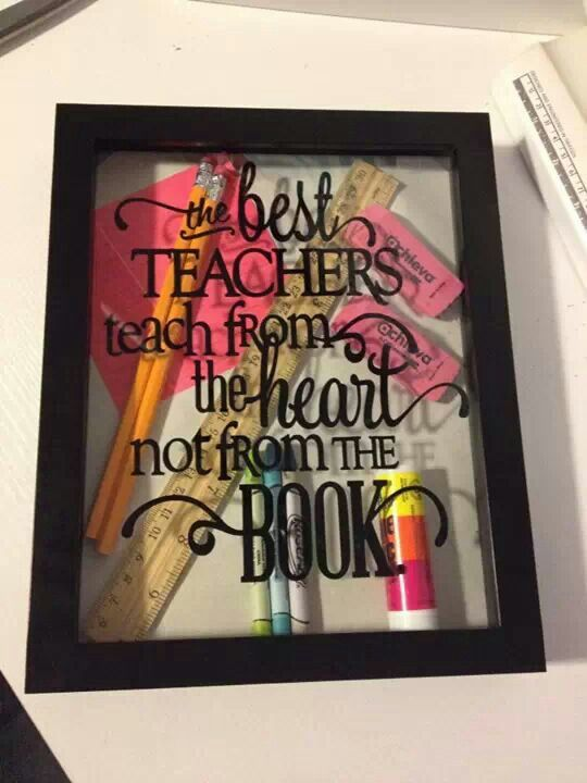 Teacher Shadow Box Cute Ideas