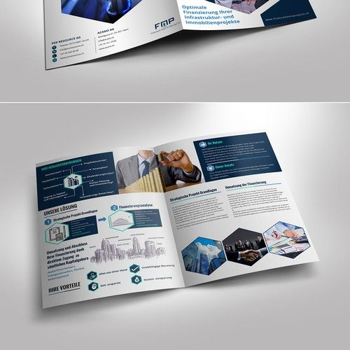 Create A Modern Brochure As Sales Tool For A New Financial Service Brochure Contest Winning Design Brochure Andre Modern Brochures Brochure Design Brochure
