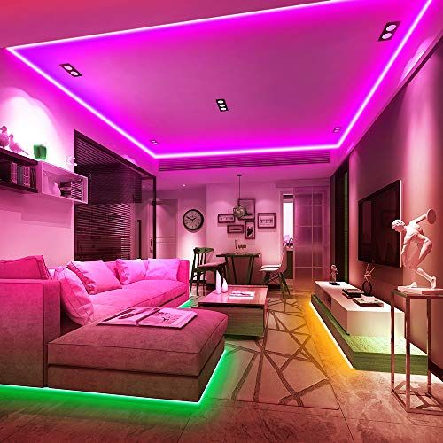 Ksipze Led Strips Lights 10m Colour Changing Led Light Strip Smd 5050 With 44 Key Ir Remote For Room Bedroo Led Light Strips Rgb Led Lights Flexible Led Light