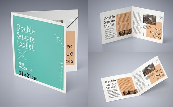 Double square leaflet