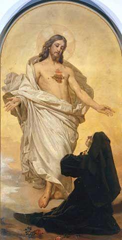 Sagrado Coração de Jesus Aparece a Santa Margarida Maria