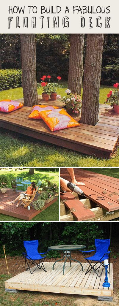How to build a fabulous floating deck ideas tips and for How to build a cheap floating deck