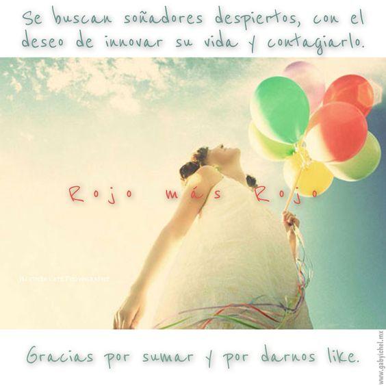 ¿Sabías que la felicidad sí se contagía?  Te invitamos a darnos like a nuestra página favebook.com/rojomasrojo.mx, a sonreír, a estar mejor y mejor... Y a contagiarlo.  #rojomásrojo #gabyichel
