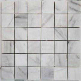 Bianca Luminous Polished Marble Mosaic 50x50 $137.20 per sq metre
