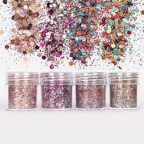 WINE GLASS NAIL ART GLITTER 008 ULTRA FINE CHUNKY MIXES PIGMENT COLORS POWDER