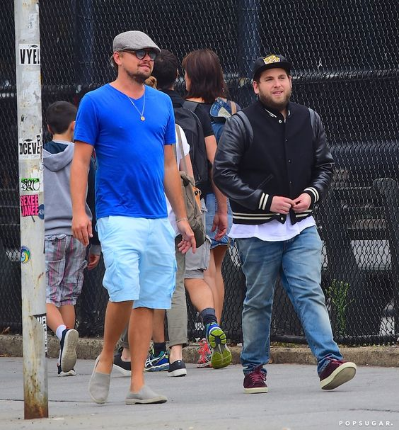 Leonardo DiCaprio Channels His Wolf of Wall Street Character by Pranking Jonah Hill in NYC