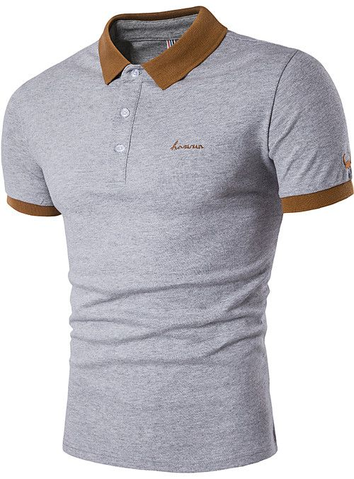Usopu Mens Summer Casual Daily Sports Jacquard Solid Colored Cotton Short Sleeve Polo Shirt