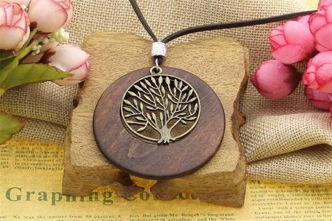 tree wooden pendant