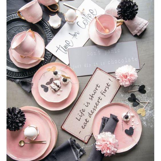 "Metallschild, ""Life is short - eat dessert first"", Rostoptik (Impressionen)"