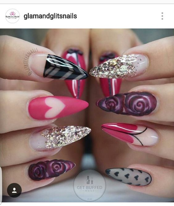 From the IG of @glamandglitsnails