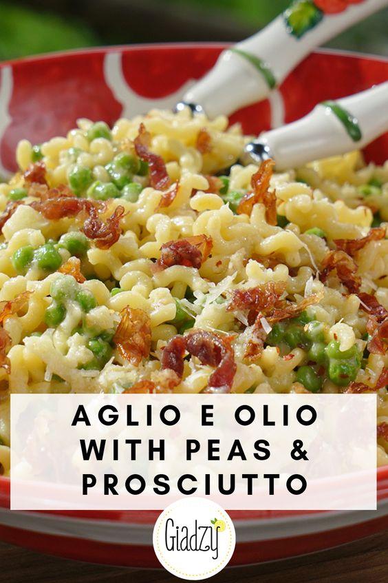 Aglio E Olio With Peas & Prosciutto