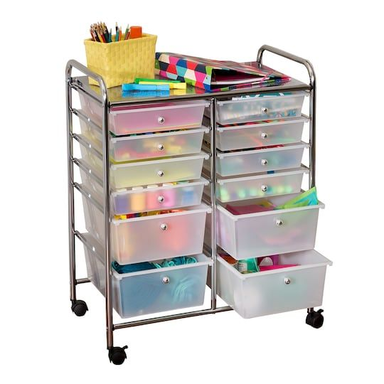 Honey Can Do Rolling Storage Cart With 12 Drawers Michaels In