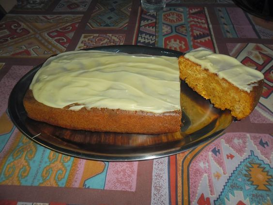My little cozy blogcorner: Wortelcake ... carrot cake.