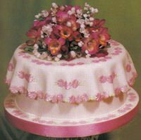 """""""Tablecloth and flowers"""" cake making tutorial"""