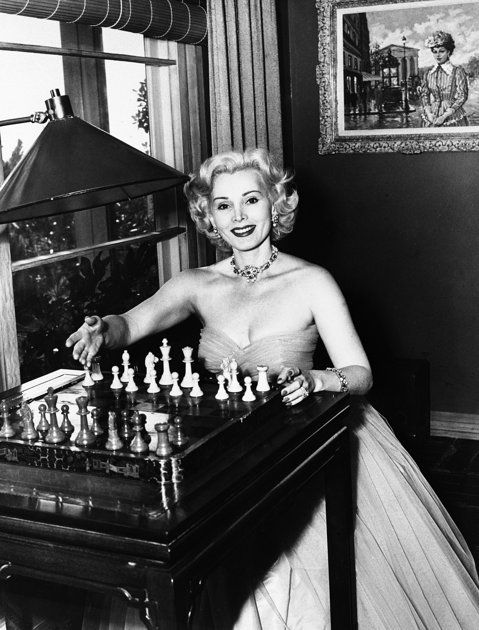 Zsa Zsa Gabor...classic beauty reminds me I need to learn how to play chess: