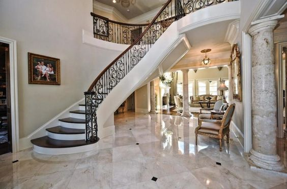 Palatial Residence in North Carolina, United States foyer staircase
