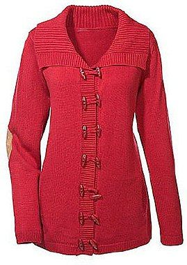 Longstrickjacke  Farbe: rot Größe: 36/38 Marke: Maite Kelly