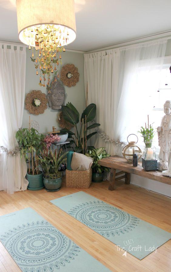 yoga en casa espacios