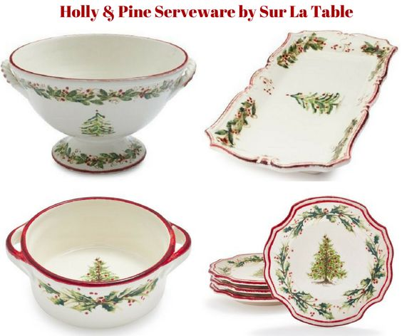 Holly and Pine Serveware by Sur La Table