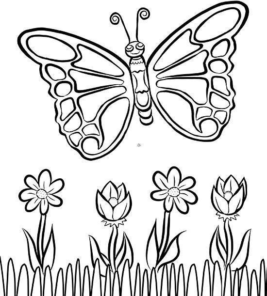 Free Butterfly Coloring Page Kostenlose Ausmalbilder Malvorlagen Malvorlagen Blumen