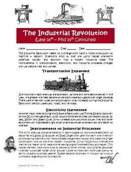 Worksheets Industrial Revolution Worksheet industrial revolution revolutions and on pinterest activity game board