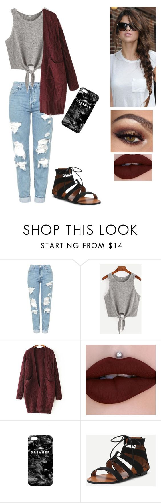 """""""Untitled #108"""" by katiemcdimples ❤ liked on Polyvore featuring Topshop, WithChic and Mr. Gugu & Miss Go"""
