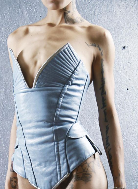 Blue Outerwear - Outfit 18 - Corset A   UsTrendy. I'd prefer it in denim