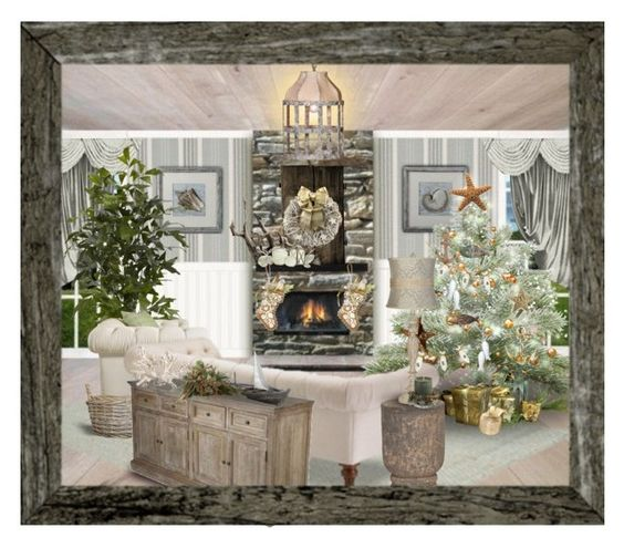 """""""Christmas on the beach"""" by kearalachelle ❤ liked on Polyvore featuring art"""