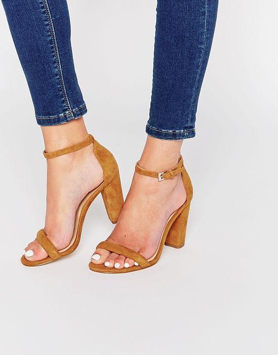 Image 1 ofALDO Cicci Cognac Block Heel Sandals