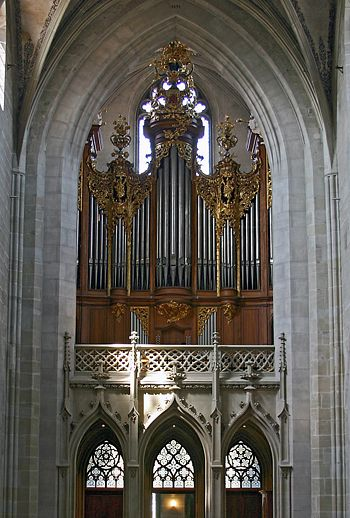 Kuhn organ at the Bern Munster [Cathedral of Saint Vincent], Switzerland