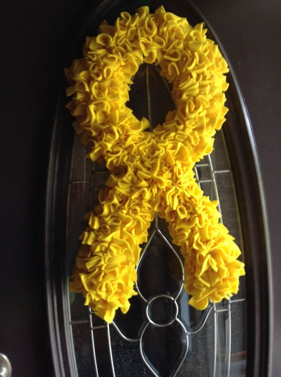 Yellow Ribbon Support the troops wreath by HamleysCountryStyle