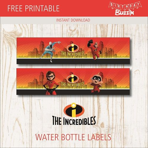 Personalised Incredibles inspired Birthday Wrapping Paper with 2 tags