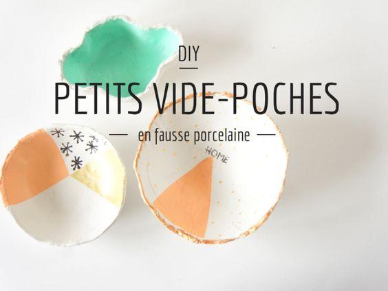 DIY : vide-poches en «fausse porcelaine»
