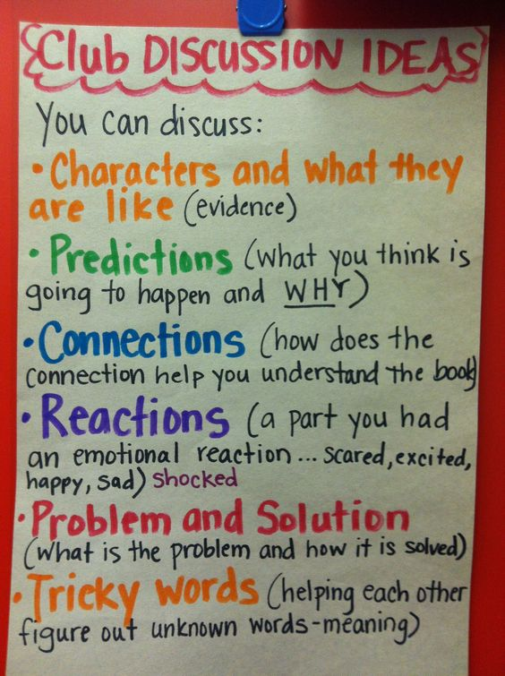 Want to give kids something to talk about? Here are prompts for book clubs.
