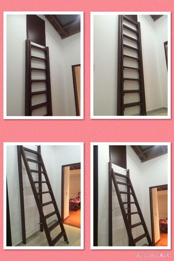 Escalera altillo no ocupa espacio se abre y cierra - Escalera plegable para altillo ...
