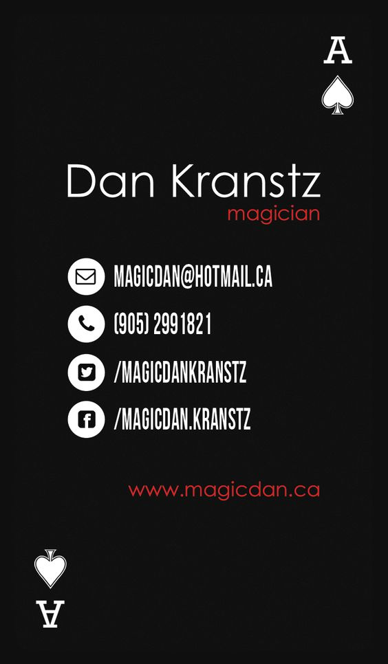 magician business card design back side my designs
