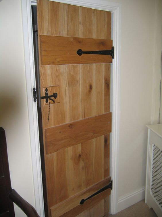 Solid Oak Internal Door 3 Ledged Door Also Known As The & Ledged Doors - Sanfranciscolife