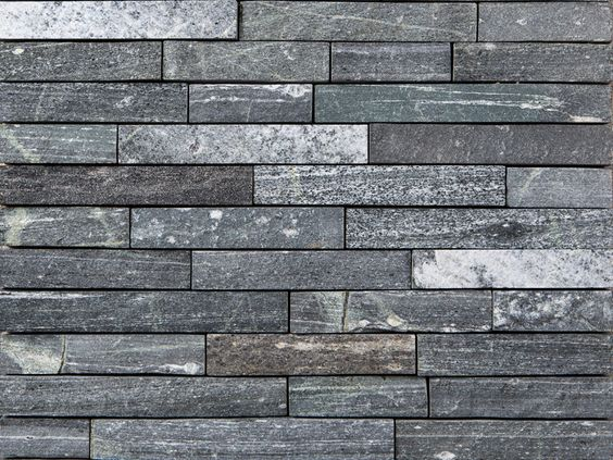 Strips greenwich gray natural stone thin veneer - Exterior wall stone cladding texture ...