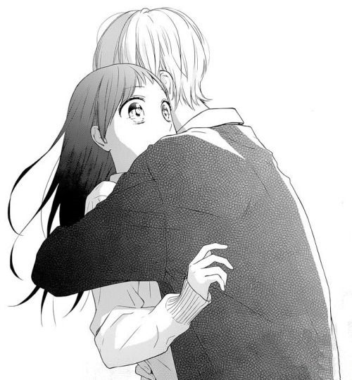 hug, manga girl, and manga couple image