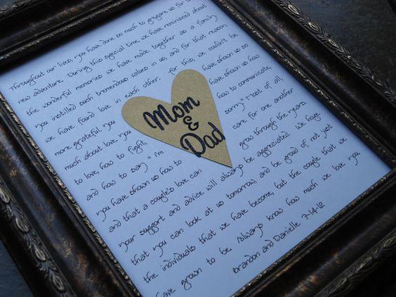 Parents wedding gifts Mom & Dad custom print your by riricreations, $35.00