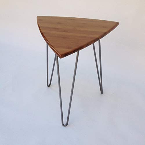 Buy Guitar Pick Side Table Mid Century Modern Triangle Shaped End Table New In Caramelized Bamboo Hairpin Legs Online Topusashoppingsites In 2020 Side Table Modern Triangles Round Glass Coffee Table