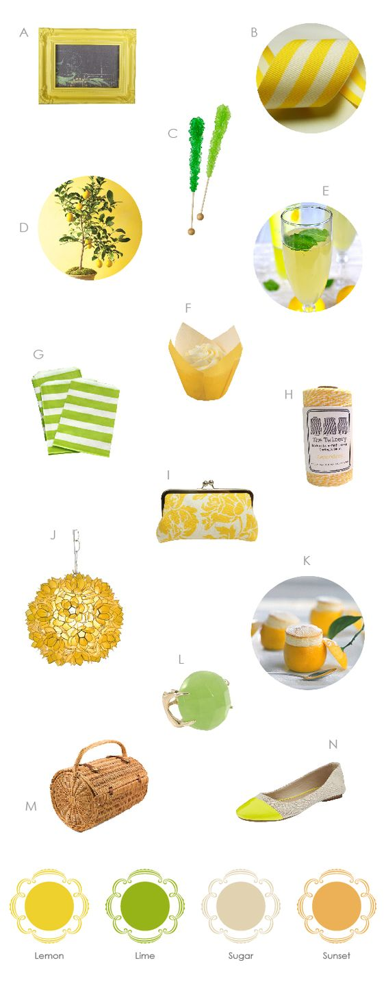 Southern Weddings - Citrus Items