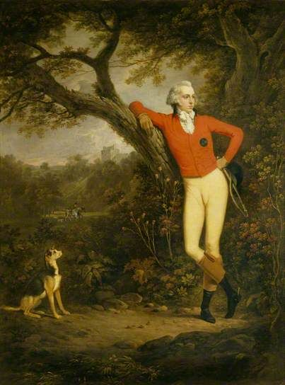 William Hamilton (1765–1814), 7th Baron Belhaven & Stenton by Alexander Nasmythi, c.1786-1789. National Trust:
